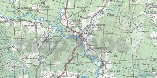 Карта Пермский край Ozi (растровая)