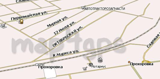 Карта Прохоровка Навител Навигатор