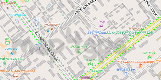 Карта Самара City Guide