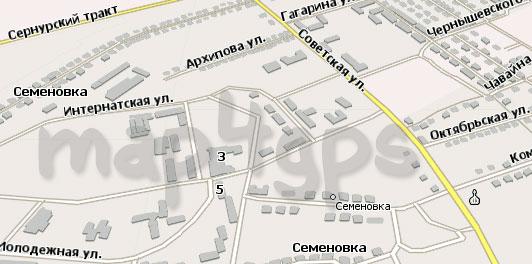 Карта Семеновка Навител