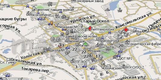 Карта Старый Оскол Навител Навигатор