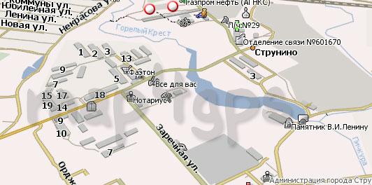 Карта Струнино для Навител