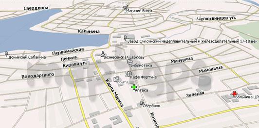 Карта Суксун Навител