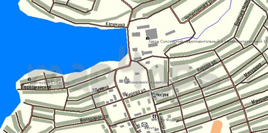 Карта Суксун Польский формат