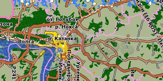 Карта республики Татарстан GisRX
