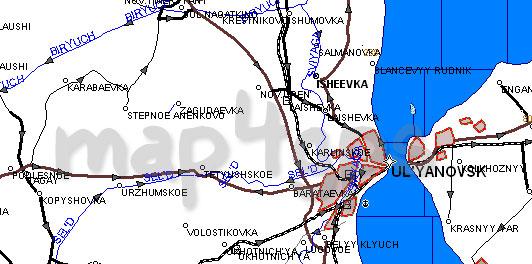Карта Ульяновская область Garmin