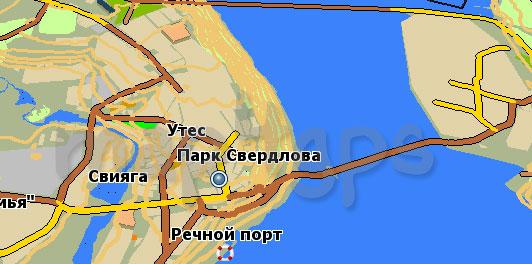 Карта Ульяновская область GisRX