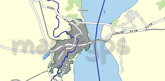 Карта Ульяновская область для Семи дорог