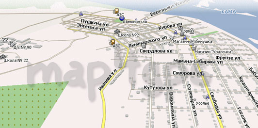 Карта Усолье Навител
