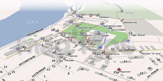 Карта Усть-Качка Навител
