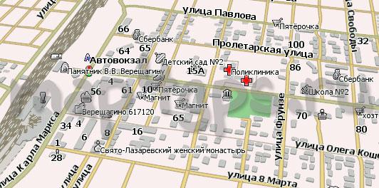 Карта Верещагино Навител