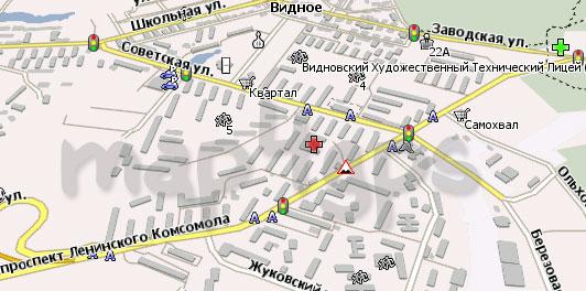 Карта Видное Навител