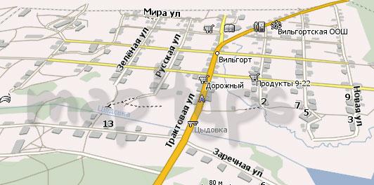Карта Вильгорт Навител