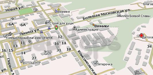 Карта Вязников для Навител