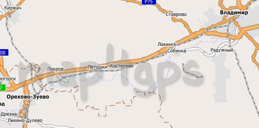 Карта Владимирская область City Guide