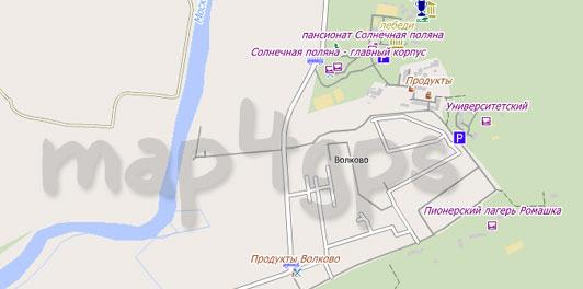 Карта Волково для City Guide