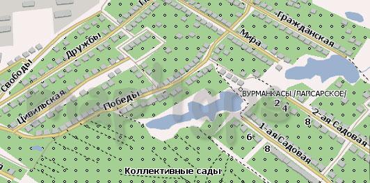 Карта Вурманкасы для Навител
