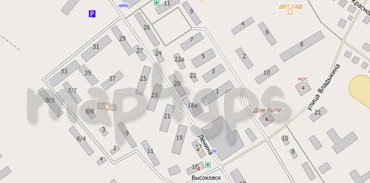 Карта Высоковска для City Guide