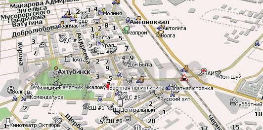 Карта Ахтубинска для Навител