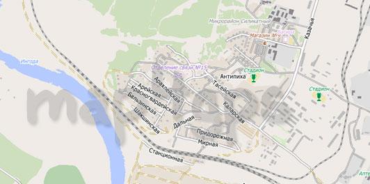 Карта Антипиха City Guide