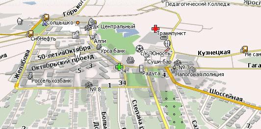 Карта Анжеро-Судженск Навител