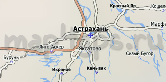 Карта Астрахани City Guide