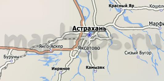 Карта Астраханской области City Guide