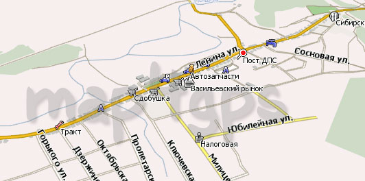 Карта Белоярский Навител