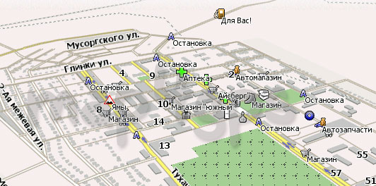 Карта Белово Навител