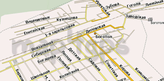 Карта Боготол Навител