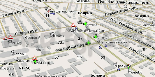 Карта Боярка Навител