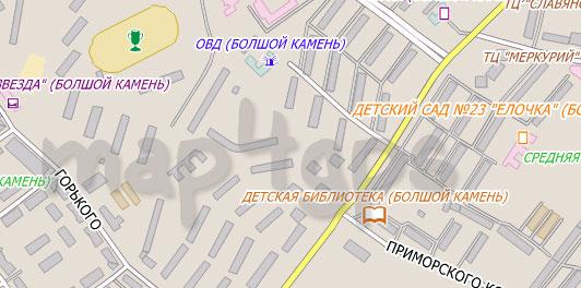 Карта Большой камень City Guide