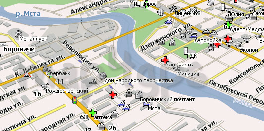 Карта Боровичи Навител