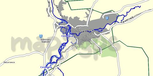 Карта республики Бурятия Семь дорог