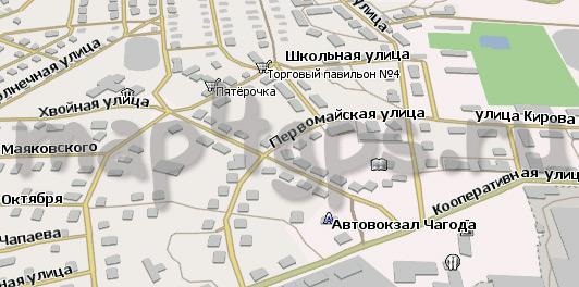 Карта Чагода Навител