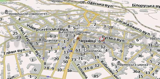 Карта Черновцев Навител