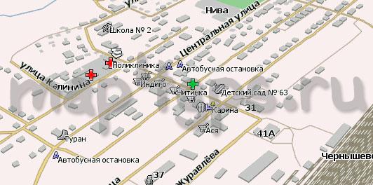 Карта Чернышевск Навител