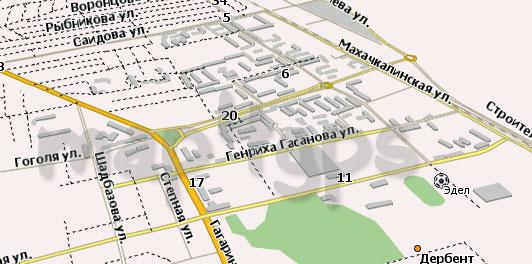 Карта Дербент Навител