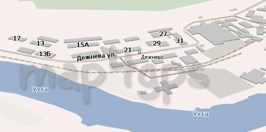 Карта Дежнево для Навител Навигатор
