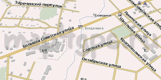Карта Екимовичи Навител