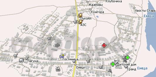 Карта Емецк Навител