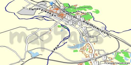 Карта Еврейской АО Семь дорог