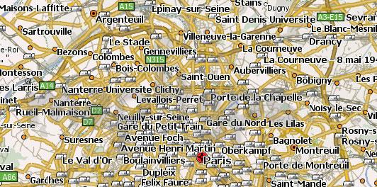 Карта Франции для Навител