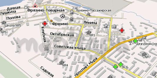 Карта Фрязино Навител