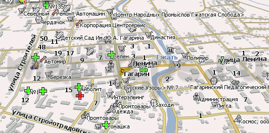Карта Гагарин Навител