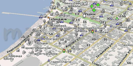 Карта Геленджик Навител