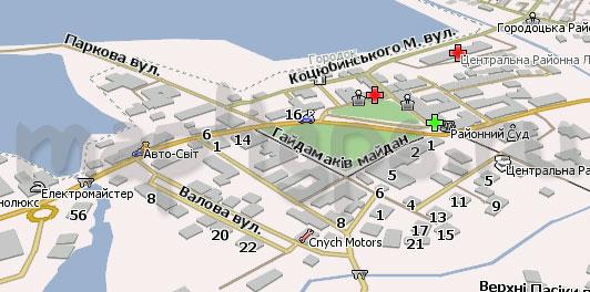 Карта Городка для Навител