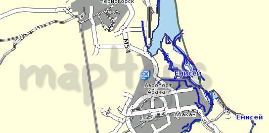 Карта республики Хакасия Семь дорог