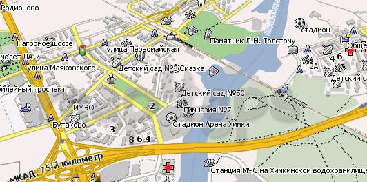 Карта Химки Навител