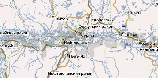 Карта ХМАО – Югра Навител